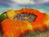 Victory in an arena of lava